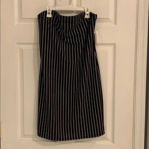 Black and White Strapless Dress